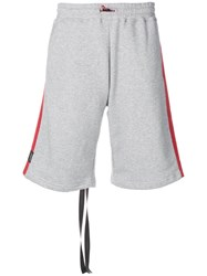 Unravel Project Contrasting Band Shorts Grey