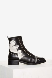 Nasty Gal Susannah Studded Leather Boot Black