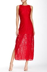 Julia Jordan Lace Maxi Dress Red