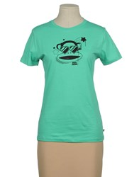 Paul Frank Topwear Short Sleeve T Shirts Women Light Green