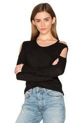 Chaser Thermal Cold Shoulder Tee Black