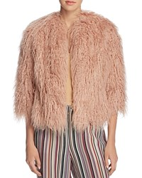 Theory Faux Fur Open Front Jacket Lotus