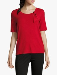 Betty Barclay Tie Top Red Scarlet