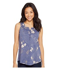 Aventura Clothing Yardley Tank Top Blue Indigo Women's Sleeveless