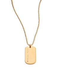 Trina Turk Dog Tag Small Pendant Necklace Gold