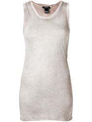 Avant Toi Round Neck Cotton Tank Top Neutrals
