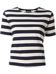 Nlst Stripped T Shirt Blue