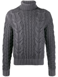 Cruciani Roll Neck Cable Knit Sweater 60