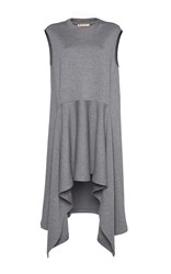 Marni Draped Double Faced Wool Dress Light Grey