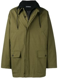 Balenciaga Double Layer Jacket Green