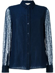 Tory Burch Lace Shirt Blue