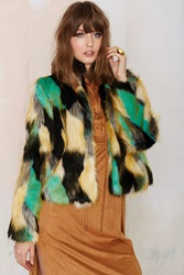 Nasty Gal Heating Up Faux Fur Jacket
