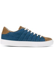 Eleventy Lace Up Sneakers Blue