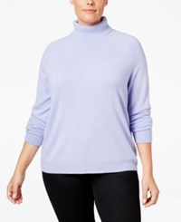 Karen Scott Plus Size Cashmelon Luxsoft Turtleneck Sweater Only At Macy's Purple Bliss