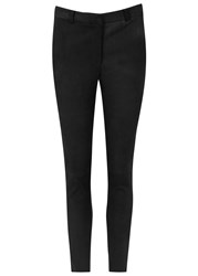 J. Lindeberg Kathy Black Cropped Suede Trousers