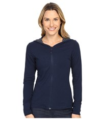Columbia Reel Beauty Hoodie Collegiate Navy Mini Stripe Women's Sweatshirt