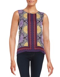 Laundry By Shelli Segal Printed Tank Siren