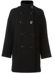 Kenzo Double Breasted Coat Black