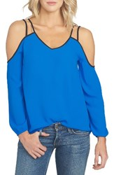 1.State Women's Cold Shoulder Crepe Blouse