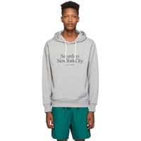 Saturdays Surf Nyc Grey Embroidered Miller Standard Ditch Hoodie