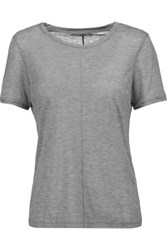 J Brand Jaden Slub Stretch Jersey T Shirt Gray