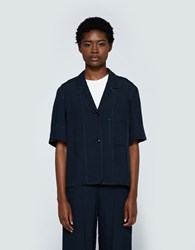 Christophe Lemaire Short Sleeve Jacket Midnight Blue