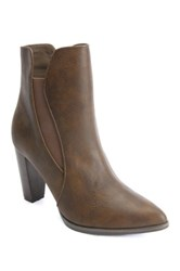 Penny Loves Kenny Avid Pointed Toe Bootie Brown