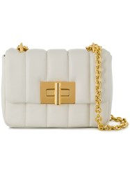 Tom Ford Tara Quilted Shoulder Bag White