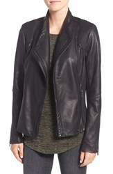 Sam Edelman Women's Pintucked Leather Jacket Black