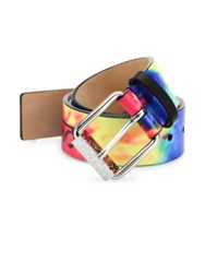 Moschino Fantasy Tie Dye Leather Belt Multicolor