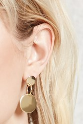 Forever 21 Drop Circle Earrings Gold