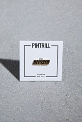 Forever 21 Pintrill Blessed Pin Navy Gold