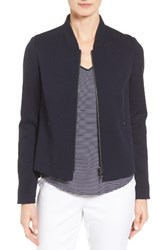 Nordstrom Women's Collection Wool Blend Knit Bomber Jacket