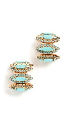 Elizabeth Cole Paulette Earrings Turquoise