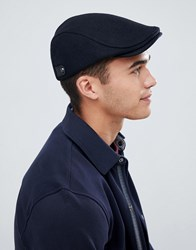 Ted Baker English Twill Flat Cap Navy