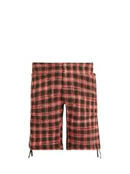 Missoni Checked Knitted Cotton Blend Cargo Shorts Red Multi
