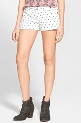Bp Dot Cutoff Denim Shorts Juniors White