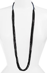 Women's Chan Luu Solid Seed Bead Strand Necklace Black