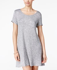 Fire Juniors' Striped A Line T Shirt Dress Grey