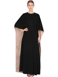 Valentino Kimono Sleeves Silk Cady Cape Dress