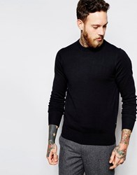 Paul Smith Jeans Jumper With Zebra And Crew Neck Black