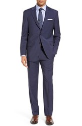 Hart Schaffner Marx Men's Big And Tall Classic Fit Solid Stretch Wool Suit Blue