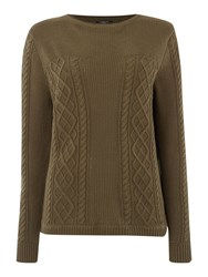 Therapy Cable Jumper Khaki