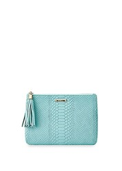 Gigi New York All In One Leather Clutch Bermuda Blue