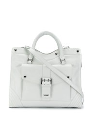 Twin Set Buckle Detail Tote White