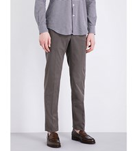 Slowear Slim Fit Tapered Stretch Cotton Trousers Grey
