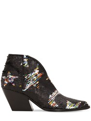 Elena Iachi 70Mm Stars Sequined Leather Boots Array 0X58315c8