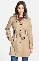 Women's Michael Michael Kors Single Breasted Raincoat British Khaki