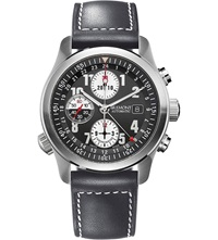 Bremont Alt1zdg07 Stainless Steel And Leather Chronograph Watch