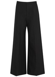 Isabel Marant Spanel Cropped Cotton Blend Trousers Black